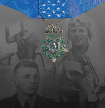 Medal of Honor Panel in the Korean War Gallery, in the National Museum of the United States Air Force (Air Force Photo).